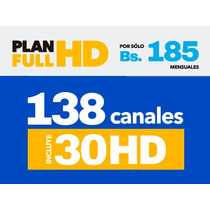 Kit Hd Inter Satelital 30 Dias X 1 Bs. Tv En Hd Hasta 3 Tv`s